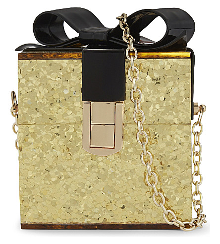 ALDO Apanthuga glitter box shoulder bag (Gold