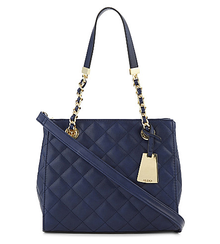 ALDO Clearbrook faux-leather handbag (Navy