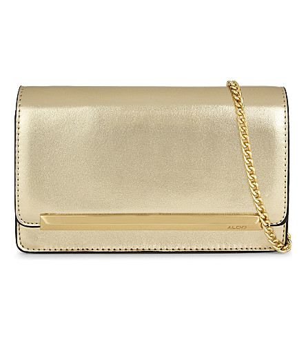 ALDO Afolia faux-leather clutch (Gold