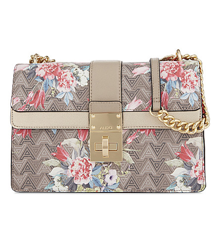 ALDO Legalen floral-print cross-body bag (Beige