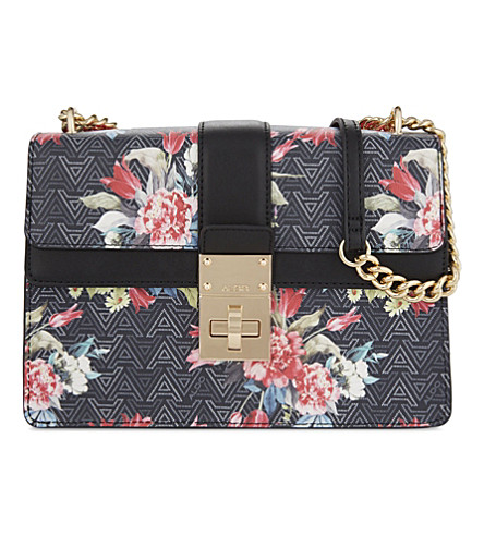 ALDO Legalen floral-print cross-body bag (Black+multi