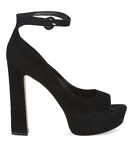 ALDO Rocha suede heeled sandals (Black nubuck