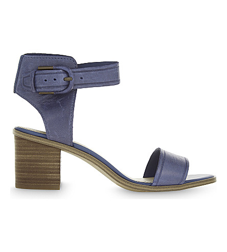 ALDO Dezi leather heeled sandals (Navy+multi