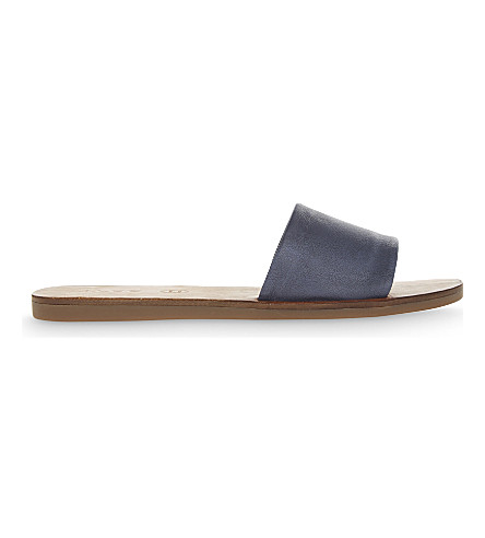ALDO Brittny leather sandals (Medium+blue