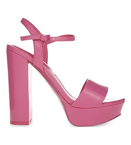 ALDO Kandie patent heeled sandals (Fushia