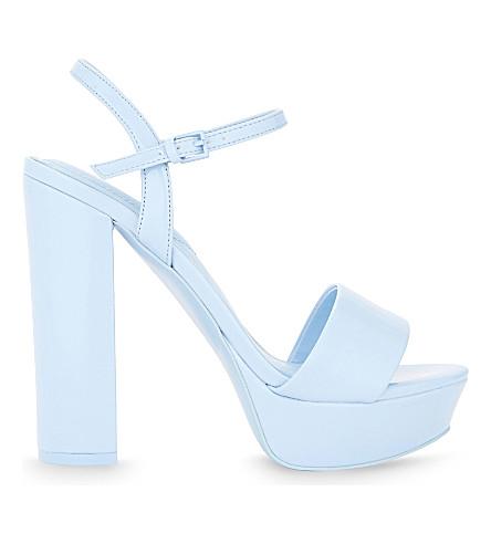 ALDO Kandie patent heeled sandals (Light+blue