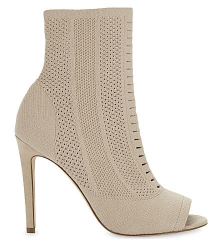 ALDO Keshaa sock heeled ankle boots (Bone