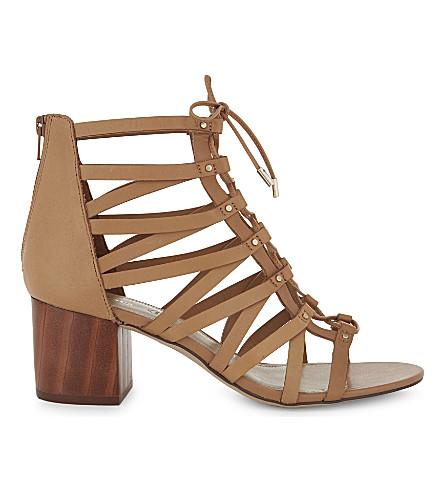 ALDO Myssi 皮革高跟鞋凉鞋 (骆驼