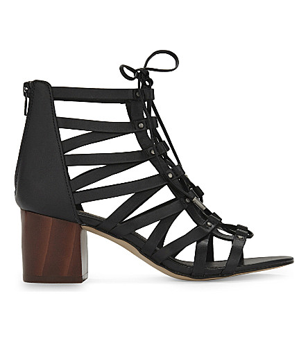 ALDO Myssi leather heeled sandals (Black+leather