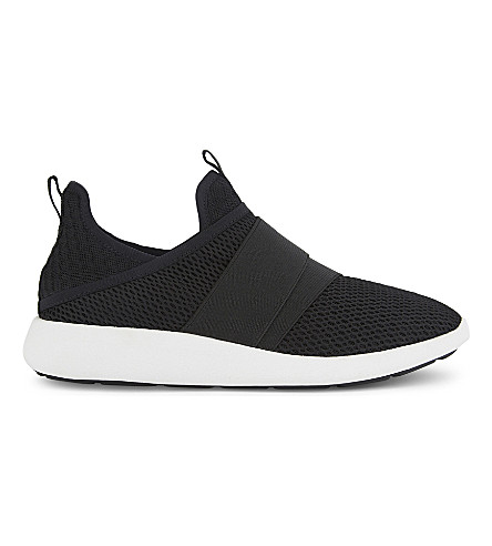 ALDO Fascia mesh mid-top trainers (Black
