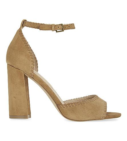 ALDO Elvyne suede heeled sandals (Cognac