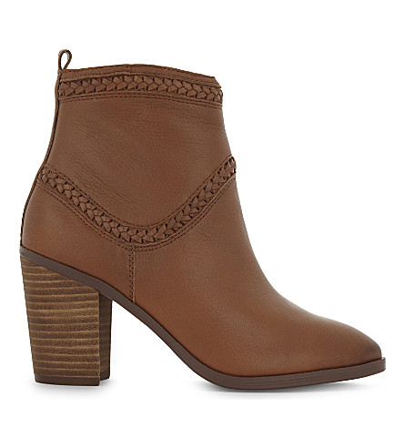 ALDO Cathrina leather heeled ankle boots (Cognac
