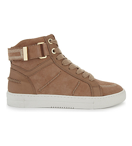 ALDO Cassis suede high-top trainers (Pink+miscellaneous