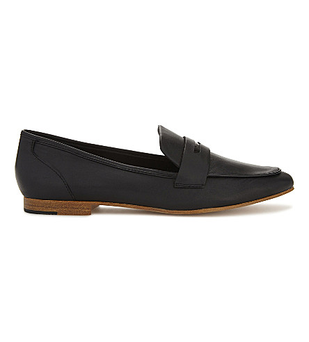 ALDO Cassietta slip-on penny loafers (Black+leather