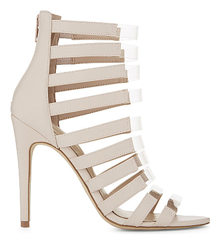 ALDO Daysie cage heeled sandals (Bone+miscellaneous