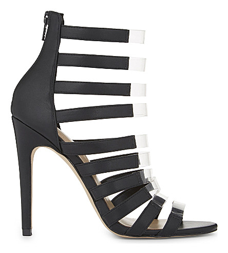 ALDO Daysie cage heeled sandals (Black+synthetic