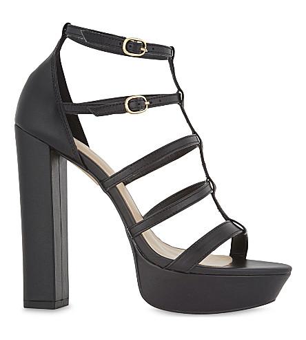 ALDO Elyni platform sandal (Black+leather