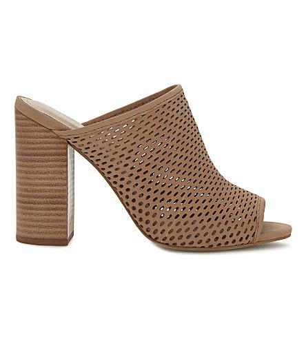 ALDO Thiasa block heeled suede mules (Cognac