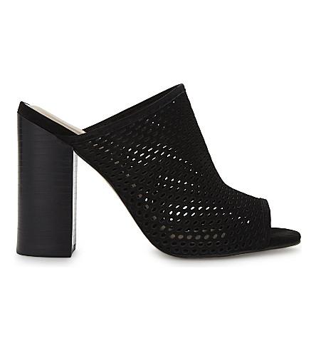 ALDO Thiasa block heeled suede mules (Black+nubuck