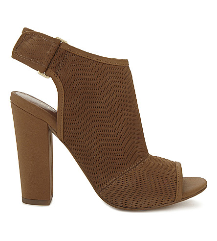 ALDO Lovialla nubuck heeled sandals (Cognac
