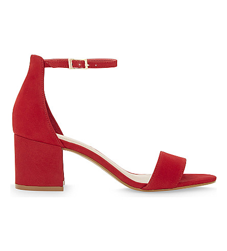 ALDO Villarosa suede heeled sandals (Red