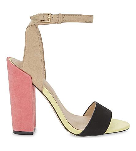 ALDO Miyaa colour-block suede sandals (Bone