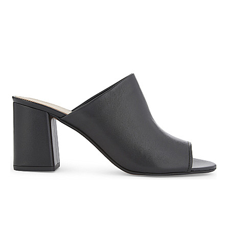 ALDO Rewen leather heeled mule sandals (Black+leather