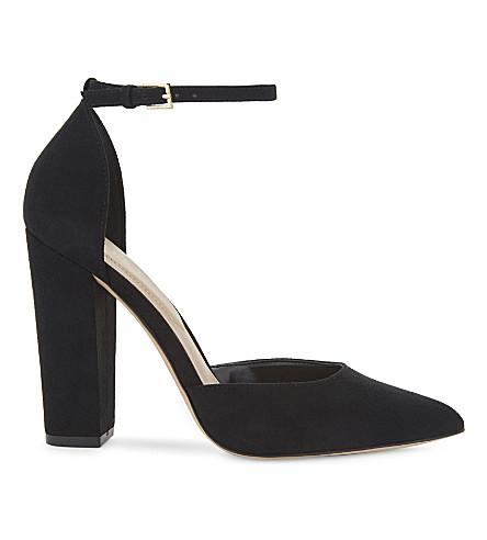 ALDO Nicholes suede block heel courts (Black