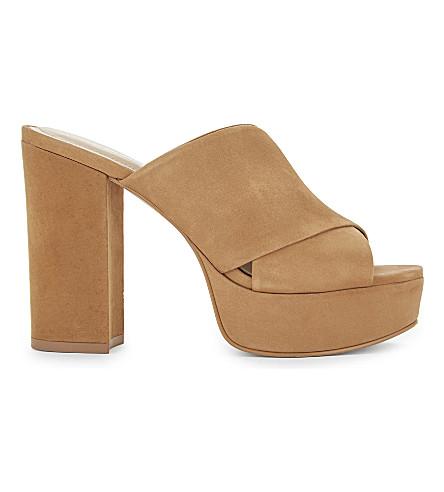 ALDO Hearts mule platform sandal (Cognac