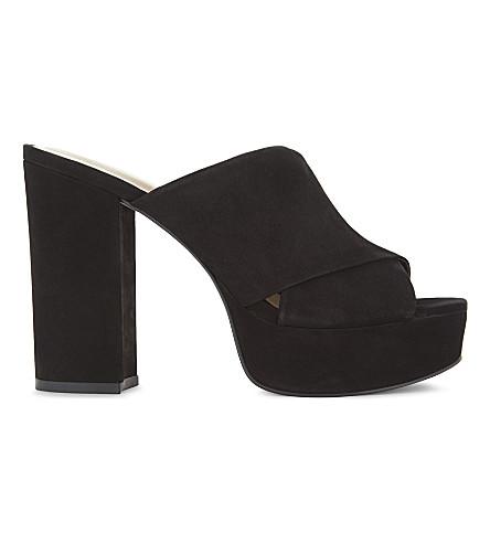 ALDO Hearts heeled mules (Black+nubuck