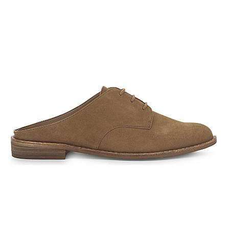 ALDO Milanino 绒面革凉鞋 (黑 + 磨砂