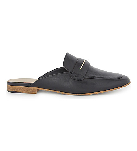 ALDO Shahan leather slip-on mules (Black+leather