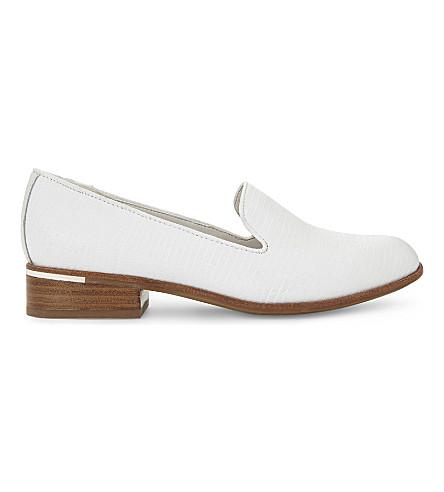 ALDO Mazzilli croc-embossed leather loafers (White