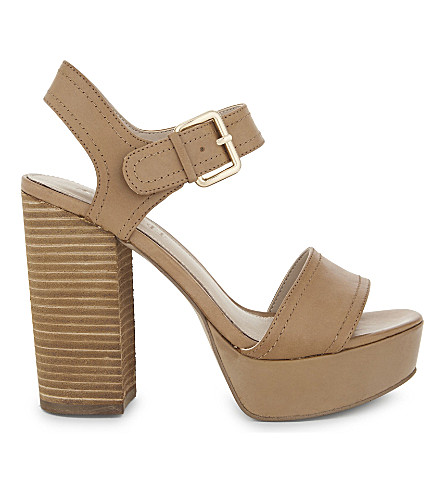 ALDO Marijka leather heeled sandals (Camel