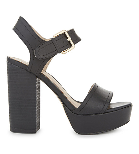 ALDO Marijka leather heeled sandals (Black+leather