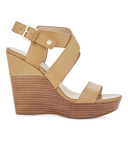 ALDO Faustina leather wedge sandals (Camel
