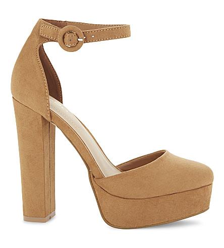 ALDO Nici suede heeled sandals (Cognac