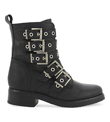 ALDO Waw leather biker boots (Black+leather