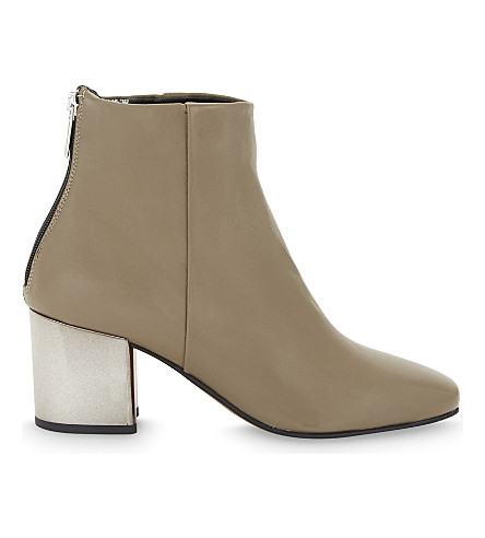 ALDO Itta leather heeled ankle boots (Taupe