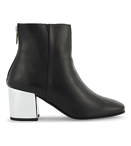 ALDO Itta leather heeled ankle boots (Black+leather