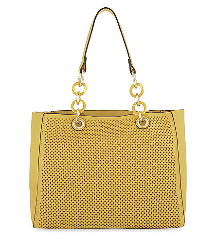 ALDO Werlinger faux-leather tote (Light+yellow
