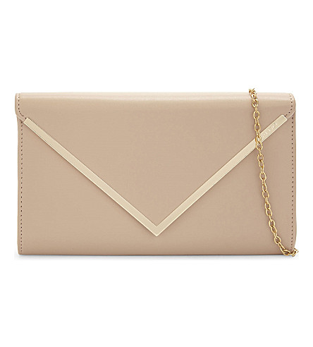 ALDO Varinaa faux-leather clutch (Bone+miscellaneous