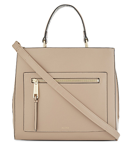 ALDO Gareni leather shoulder bag (Taupe