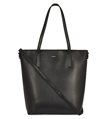ALDO Dicocco faux-leather tote (Black