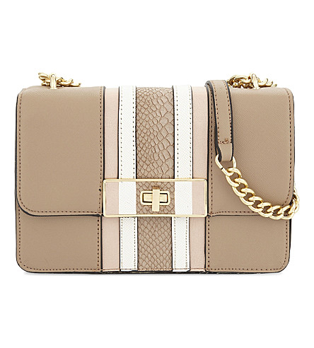 ALDO Borgotaro faux-leather cross-body bag (Taupe