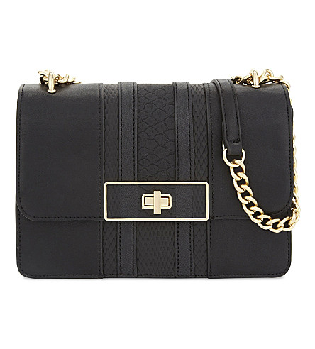 ALDO Borgotaro faux-leather cross-body bag (Black