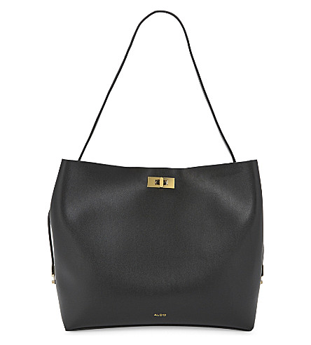ALDO Plataci faux-leather tote (Black+/+white