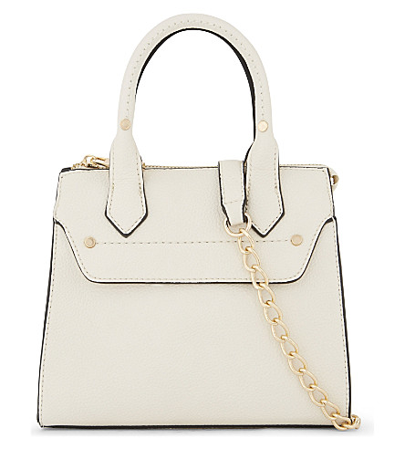ALDO Gadien grained leather shoulder bag (Bone
