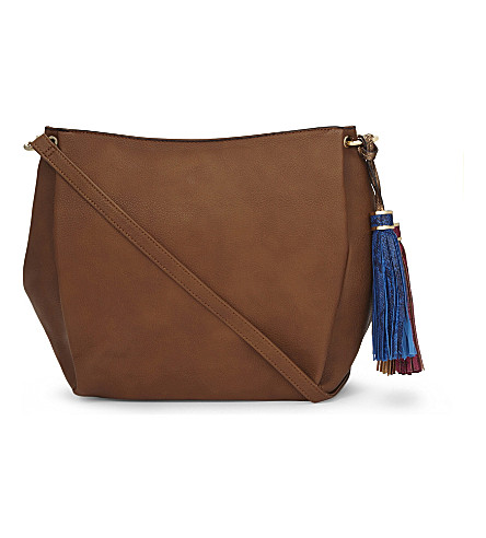 ALDO Lowell faux-leather cross-body bag (Cognac