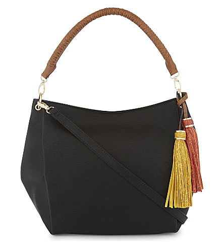 ALDO Lowell faux-leather shoulder bag (Black